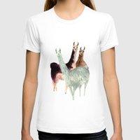 llama T-shirts featuring Llama by Big AL