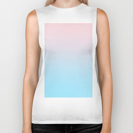 HEAD IN THE CLOUDS - Minimal Plain Soft Mood Color Blend Prints Biker Tank