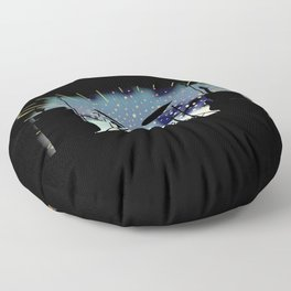 Bright Rock Band Stage Floor Pillow