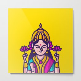 Lakshmi - The Goddess of Wealth Metal Print