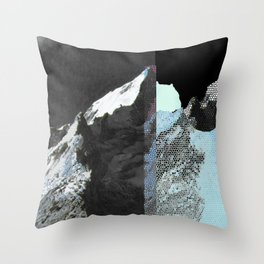 Twin peaks_ charcoal Throw Pillow