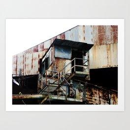 "Old Sugar processing plant ""Coloso"" @ Aguada Art Print"