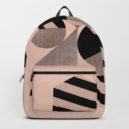 Abstraction_Geometric_SHAPES_pink Backpack