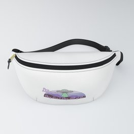 Storm Area 51 They Can't Stop Us All Alien UFO Retro Advert Fanny Pack