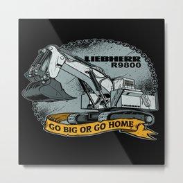 excavator liebherr r9800 Metal Print
