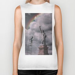 Statues of liberty Biker Tank