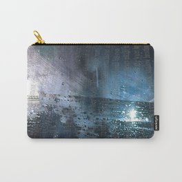 Taking the Evening Train Through Winter Words Carry-All Pouch