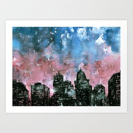 buildings architecture galaxy Art Print