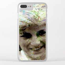LADY DIANA Clear iPhone Case