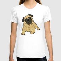 pug T-shirts featuring PUG by Elena O'Neill