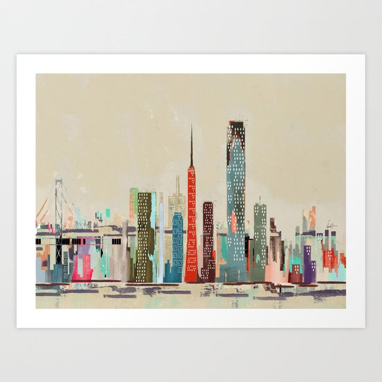 san francisco skyline Art Print