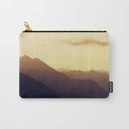 Layered Swiss Alps Carry-All Pouch