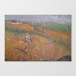 The sower - after van Gogh Canvas Print