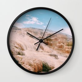 mammoth hot springs Wall Clock