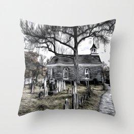 Sleepy Hollow Church Art Throw Pillow
