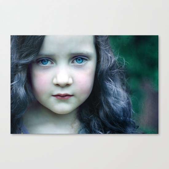 Even in my alternate universe, the rain makes my hair curl.  Canvas Print