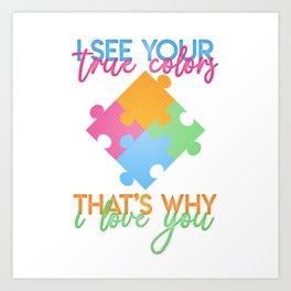 Autism Colors v1.0 Art Print