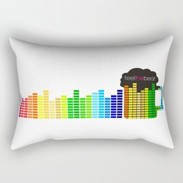 Feel The Beat Rectangular Pillow
