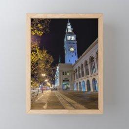 SF Ferry Building Framed Mini Art Print