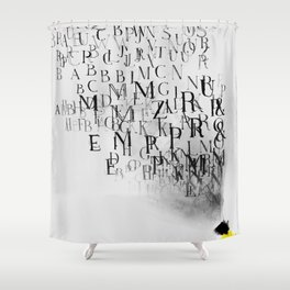 Typography and  the Black Hole Shower Curtain