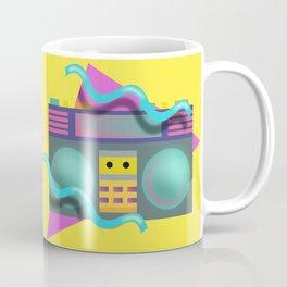 Retro Eighties Boom Box Graphic Coffee Mug