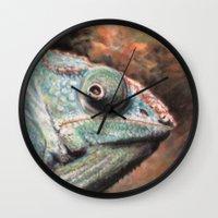 jenny liz rome Wall Clocks featuring Liz by Julie Lemons
