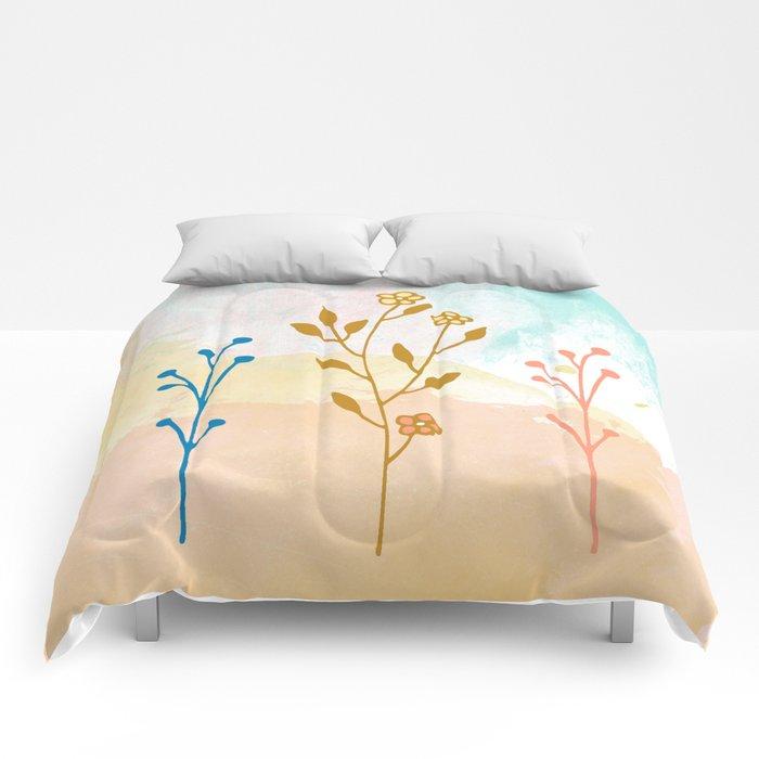Acuarela flower Comforters