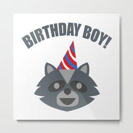 Boy Birthday Raccoon Animal Kids Children Party Celebration gift idea Metal Print