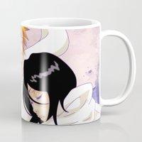bleach Mugs featuring Bleach: Ichigo X Rukia by Neo Crystal Tokyo