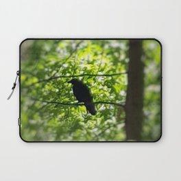 Black Bird Summer Green Tree Laptop Sleeve