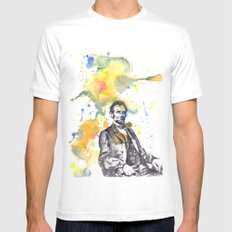 Abraham Lincoln 16th President Vampire Hunter? SMALL White Mens Fitted Tee