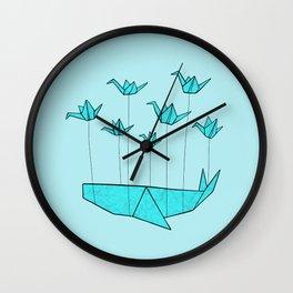 Origami Fail Whale Wall Clock