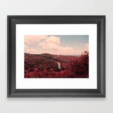PINK SKY / RED FOREST Framed Art Print