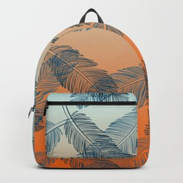Blue Feathers Pattern Backpack