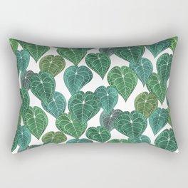 Anthurium clarinervium leaves Rectangular Pillow