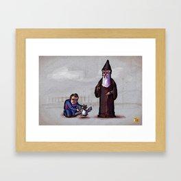 Gwydion and Manannan Framed Art Print