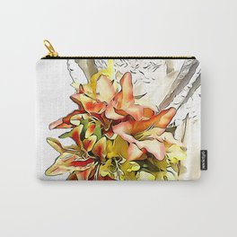 The bride had a orange lily bouquet Carry-All Pouch