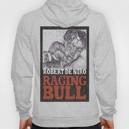 RAGING BULL hand drawn movie poster in pencil Hoody