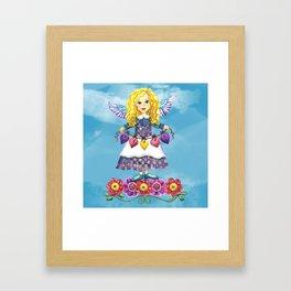 Angel Love (Turquoise) Framed Art Print