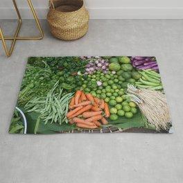Asia vegetables on market #society6 #vegetables Rug