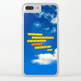 Return to Me Clear iPhone Case