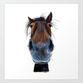 Happy Horse ' HAPPY HARRY ' by Shirley MacArthur Art Print