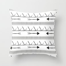 Black Arrow Tri Throw Pillow