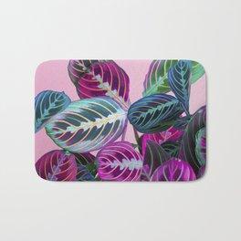 Prayer Plants on a Pink Bath Mat