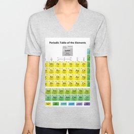 periodic table Unisex V-Neck