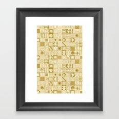 wolf geo gold ivory Framed Art Print
