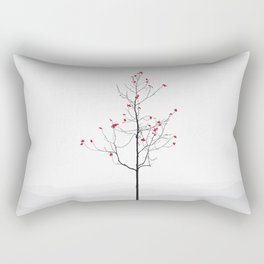 Twig Tree - Crimson Rectangular Pillow