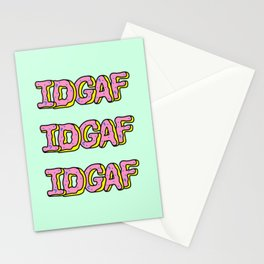 IDGAF Pink Donuts Stationery Cards