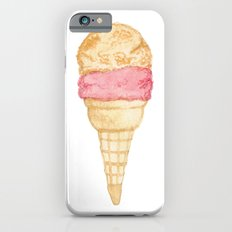Watercolour Illustrated Ice Cream - Peony Pleasure iPhone 6 Slim Case