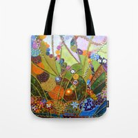 happiness Tote Bags featuring Happiness by Vargamari